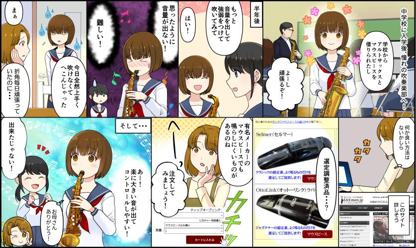 SAXmen.jp選定マウスピース漫画でレビュー